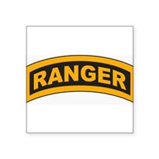 "Cute Army ranger Square Sticker 3"" x 3"""
