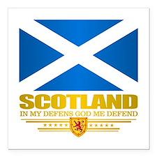 """Flag of Scotland Square Car Magnet 3"""" x 3"""""""