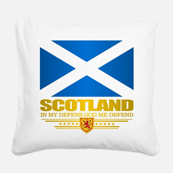 Flag of Scotland Square Canvas Pillow