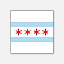 """Funny Chicago Square Sticker 3"""" x 3"""""""