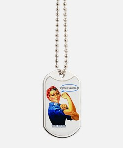 Women Can Do It Tag Necklace Dog Tags