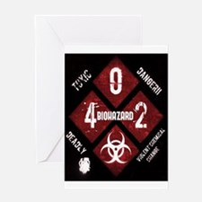 4 Biohazard 2 Greeting Cards