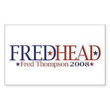 FredHead Rectangle Decal