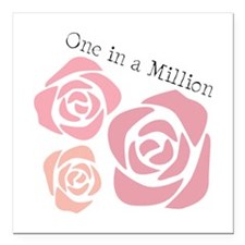 """One In A Million Square Car Magnet 3"""" x 3"""""""