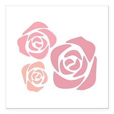 """Lovely Roses Square Car Magnet 3"""" x 3"""""""