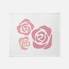 Lovely Roses Throw Blanket