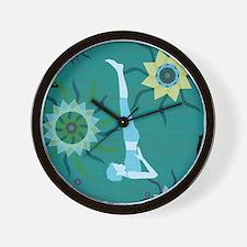 TealYoga.png Wall Clock