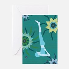 TealYoga Greeting Cards