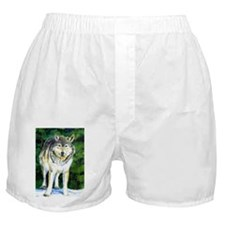 Gray Wolf Forest Boxer Shorts
