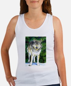 Gray Wolf Forest Tank Top