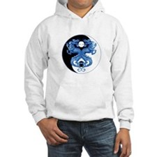 Yin Yang Dragons Blue Hoodie