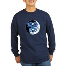 Yin Yang Dragons Blue T