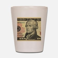 $10 Alexander Hamilton Portrait Shot Glass