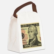 $10 Alexander Hamilton Portrait Canvas Lunch Bag