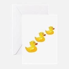 Cute Ducklings Greeting Cards