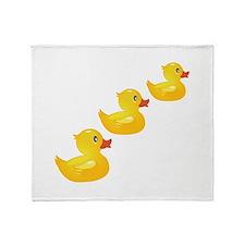 Cute Ducklings Throw Blanket