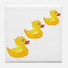 Cute Ducklings Tile Coaster