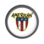 American Stars and Stripes Wall Clock