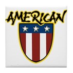 American Stars and Stripes Tile Coaster