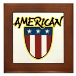American Stars and Stripes Framed Tile