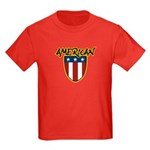 American Stars and Stripes Kids Dark T-Shirt
