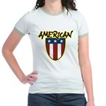 American Stars and Stripes Jr. Ringer T-Shirt