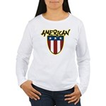 American Stars and Stripes Women's Long Sleeve T-S