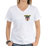 American Stars and Stripes Women's V-Neck T-Shirt