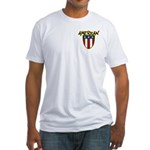 American Stars and Stripes Fitted T-Shirt