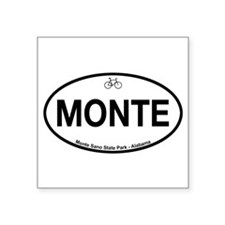 "Cute Bike Square Sticker 3"" x 3"""