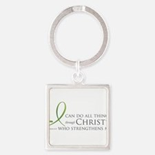 Cute Religion and beliefs Square Keychain