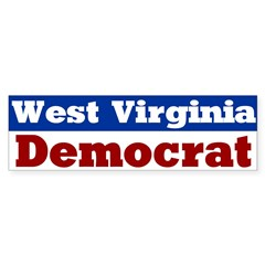 West Virginia Democrat Bumper Bumper Sticker
