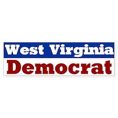 West Virginia Democrat Bumper Bumper Sticker