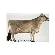 Cute Brown cow Rectangle Magnet