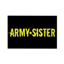 Army Sister: Gold and Black Magnets