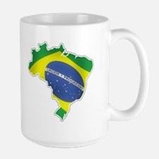 Brazilian Flag Mugs