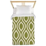 Ogee Olive Green Retro Twin Duvet