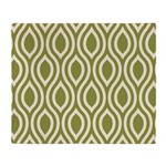 Ogee Olive Green Retro Throw Blanket