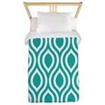 Ogee Teal Retro Twin Duvet