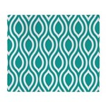 Ogee Teal Retro Throw Blanket