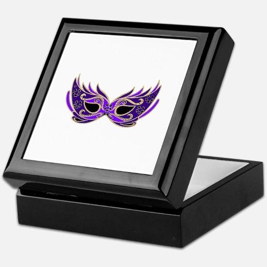 Purple Mask Keepsake Box