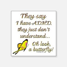 ADHD Butterfly Sticker