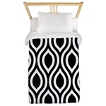 Ogee Retro Black and white Twin Duvet