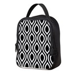Ogee Retro Black and white Neoprene Lunch Bag