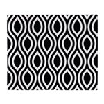 Ogee Retro Black and white Throw Blanket