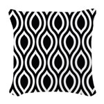 Ogee Retro Black and white Woven Throw Pillow
