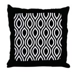 Ogee Retro Black and white Throw Pillow