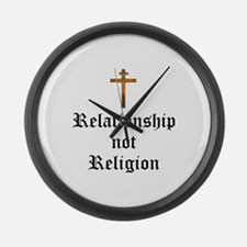 Relationship not Religion Large Wall Clock
