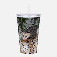 Snow Possum Acrylic Double-wall Tumbler