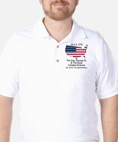 George W and the 4th of July Golf Shirt